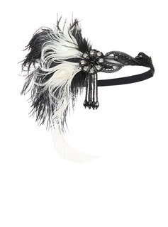Ladies' Unique Feather With Feather Kentucky Derby Hats