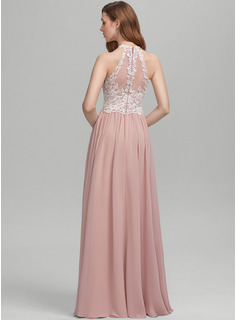 pink beaded floor length dress
