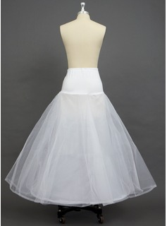 Women Tulle Netting/Polyester/Spandex Floor-length 2 Tiers Petticoats