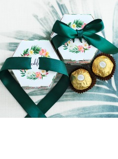 Creative/Lovely Card Paper Favor Boxes & Containers With Ribbons (Set of 20)
