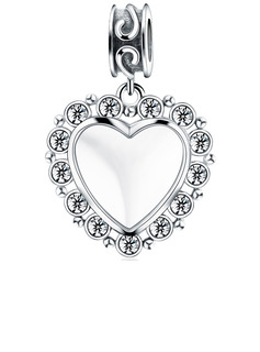 Custom Photo Dangle Engraved Charms With Heart - Valentines Gifts