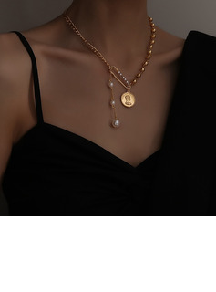 Fashionable Pearl/Gold Plated Necklaces