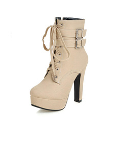 winter high heels boots women
