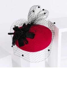 Ladies' Vintage Wool/Net Yarn Fascinators