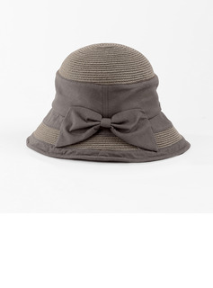 Ladies' Simple/Fancy Polyester With Bowknot Bucket Hats