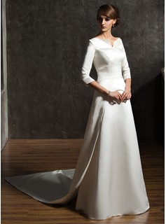 short wedding dress pleated