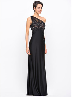 modest navy blue evening dress