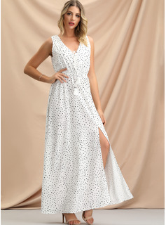 white floor length communion dresses