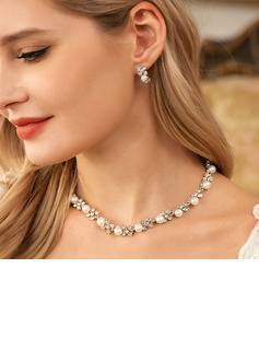Beautiful Alloy With Pearl/Rhinestone Ladies' Jewelry Sets