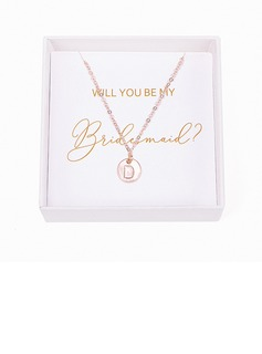 Bridesmaid Gifts - Personalized Eye-catching Alloy Initial Jewelry Necklace