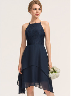 simple navy long dress