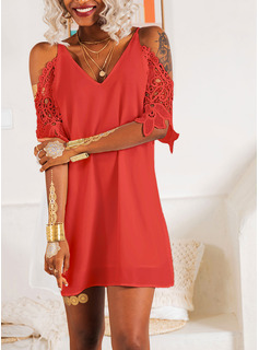 red long sleeve fishtail dress