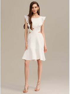 A-Line Short/Mini Cocktail Dress With Ruffle