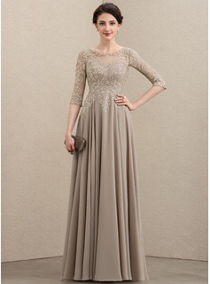 long grey lace prom dress