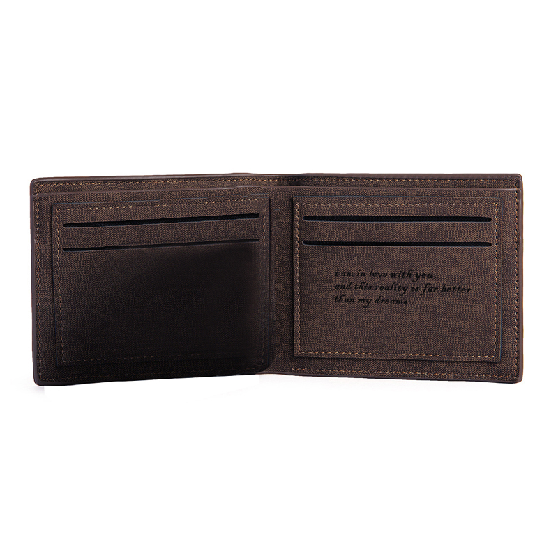 Personalized Mens Custom Engraved Photo Engraved Leather Wallet