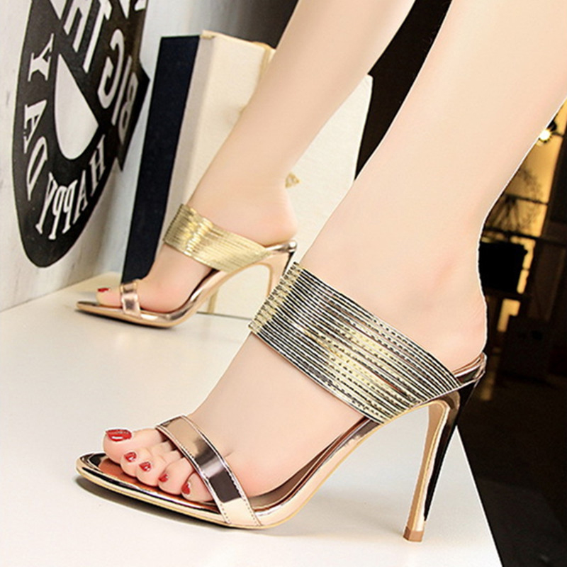 Women's Patent Leather Stiletto Heel Sandals Pumps Peep Toe With Others shoes