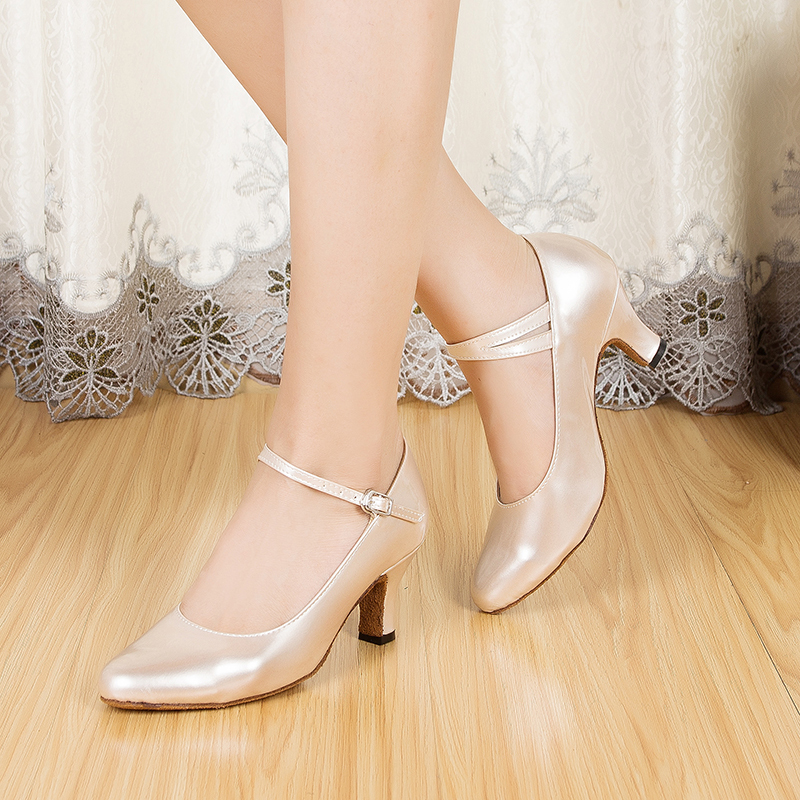 Women's Leatherette Heels Pumps Ballroom Dance Shoes