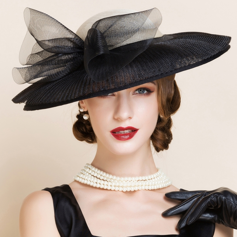 Ladies' Charming Cambric Bowler/Cloche Hats/Kentucky Derby Hats/Tea Party Hats