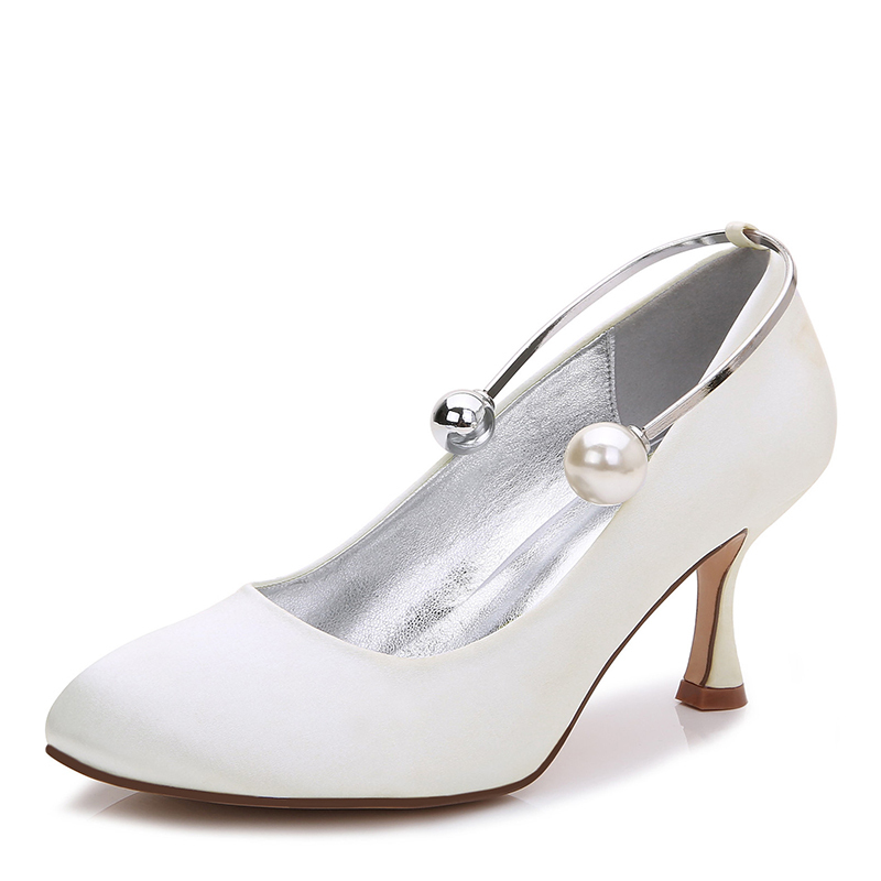Women's Silk Like Satin Stiletto Heel Closed Toe Pumps