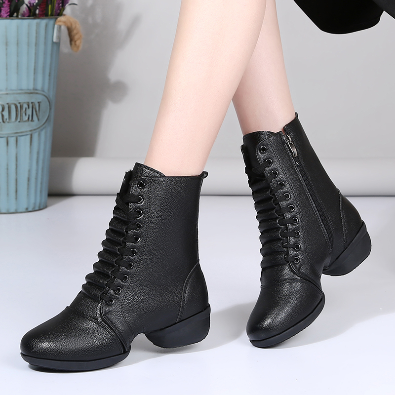 Women's Leatherette Boots Modern Jazz Sneakers Dance Boots Dance Shoes