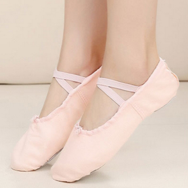 Women's Cloth Flats Pumps Ballet Dance Shoes