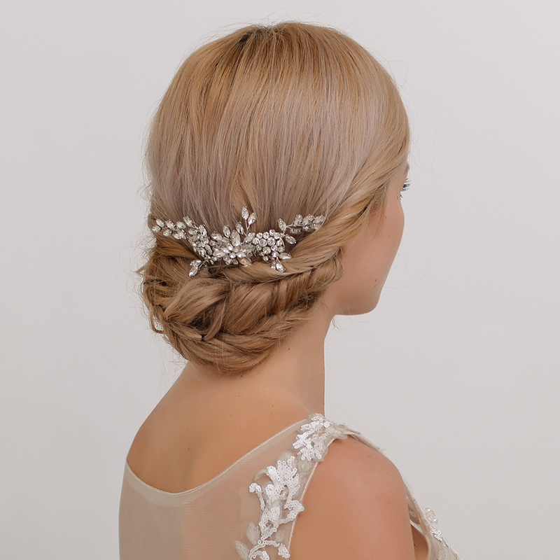 Ladies Glamourous Alloy Combs & Barrettes With Crystal (Sold in single piece)