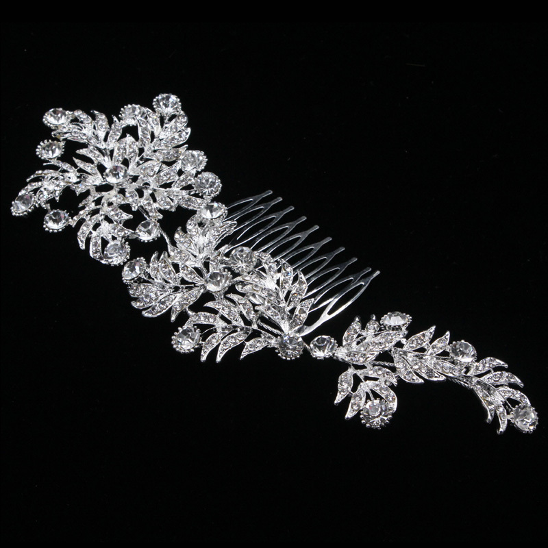 Elegant Alloy Combs & Barrettes With Rhinestone (Sold in single piece)