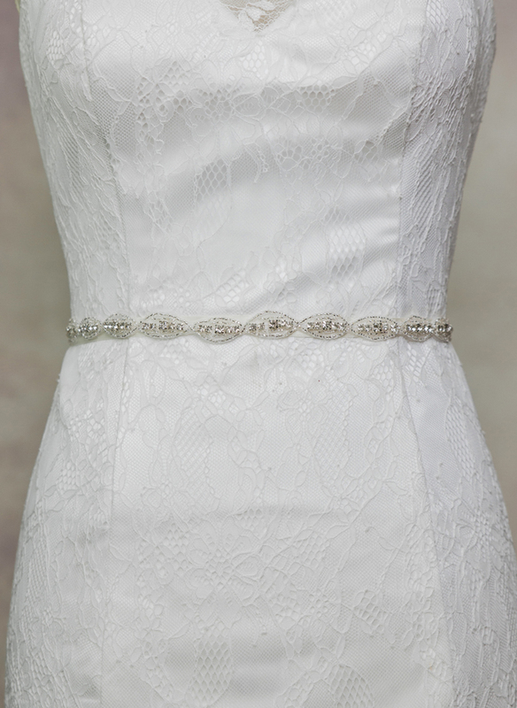 Simple Satin Sash With Rhinestones