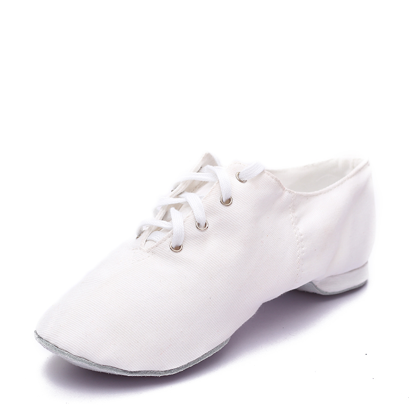Women's Canvas Flats Jazz Dance Shoes