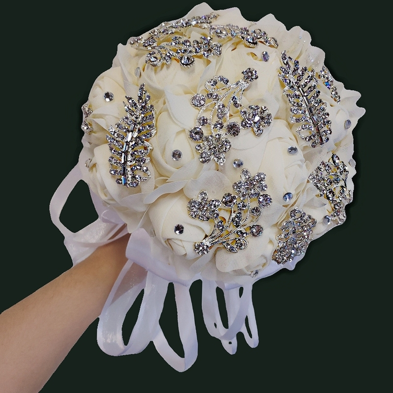 Classic Hand-tied Cloth/Silk Flower Bridal Bouquets/Bridesmaid Bouquets (Sold in a single piece) - Bridal Bouquets/Bridesmaid Bouquets