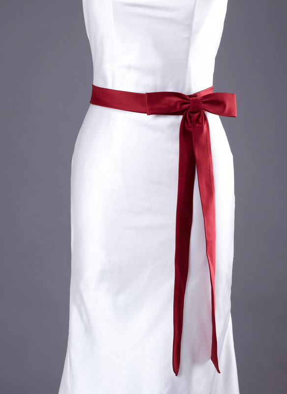 Simple Satin Sash With Bow