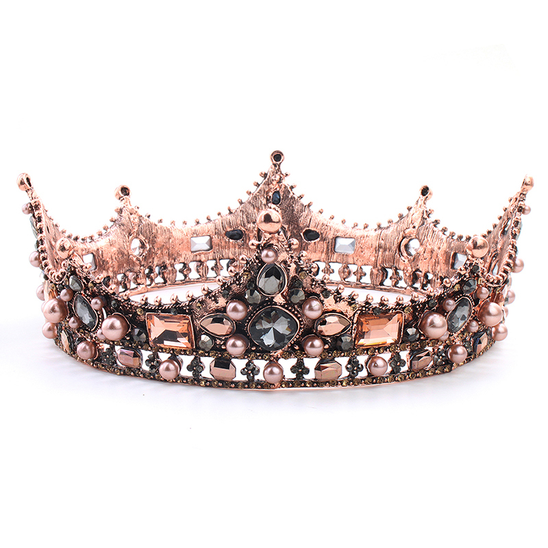 Ladies Shining Alloy Tiaras With Crystal