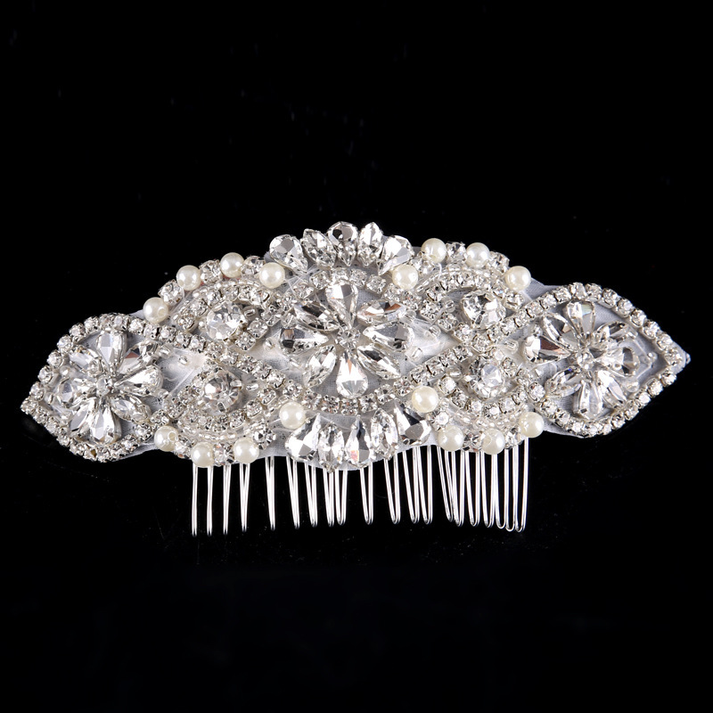 Ladies Beautiful Rhinestone/Alloy/Imitation Pearls Combs & Barrettes With Rhinestone/Venetian Pearl