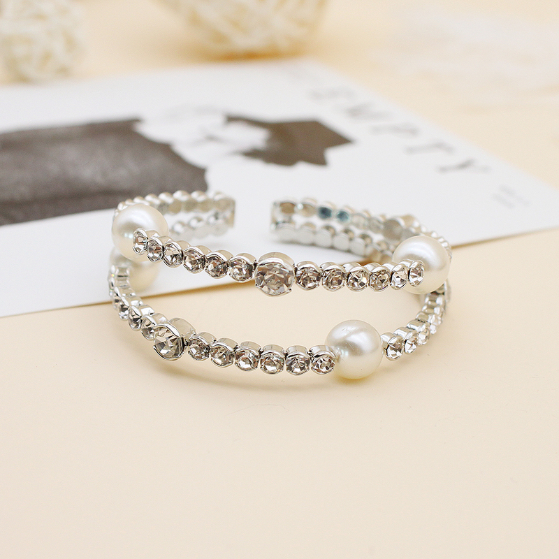Ladies' Classic Rhinestones/Imitation Pearls Pearl/Rhinestone Bracelets For Bridesmaid/For Friends/For Her