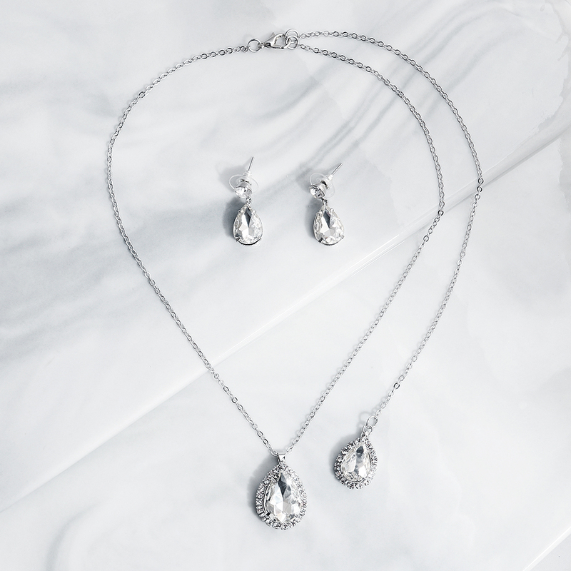 Ladies' Elegant Zircon Jewelry Sets For Bride/For Bridesmaid/For Mother/For Friends/For Couple