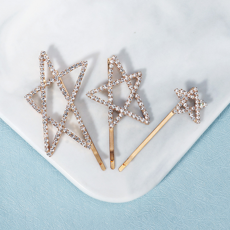Ladies Beautiful Rhinestone Hairpins With Rhinestone (Set of 3)