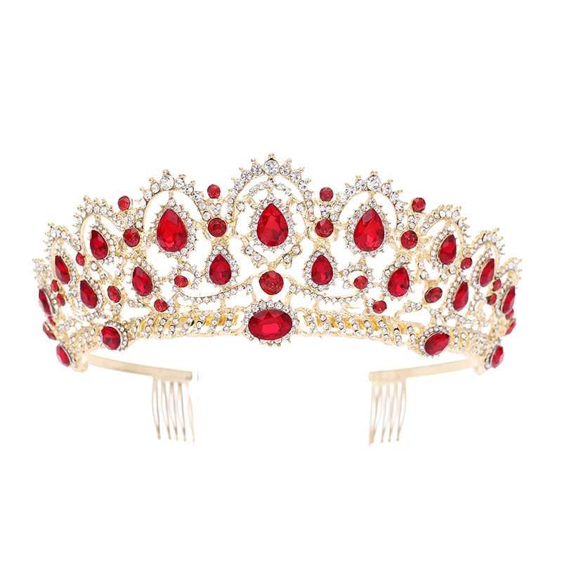 Ladies Beautiful Rhinestone/Alloy Combs & Barrettes With Rhinestone (Sold in single piece)
