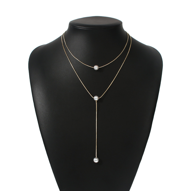 Ladies' Beautiful Alloy/Pearl Necklaces