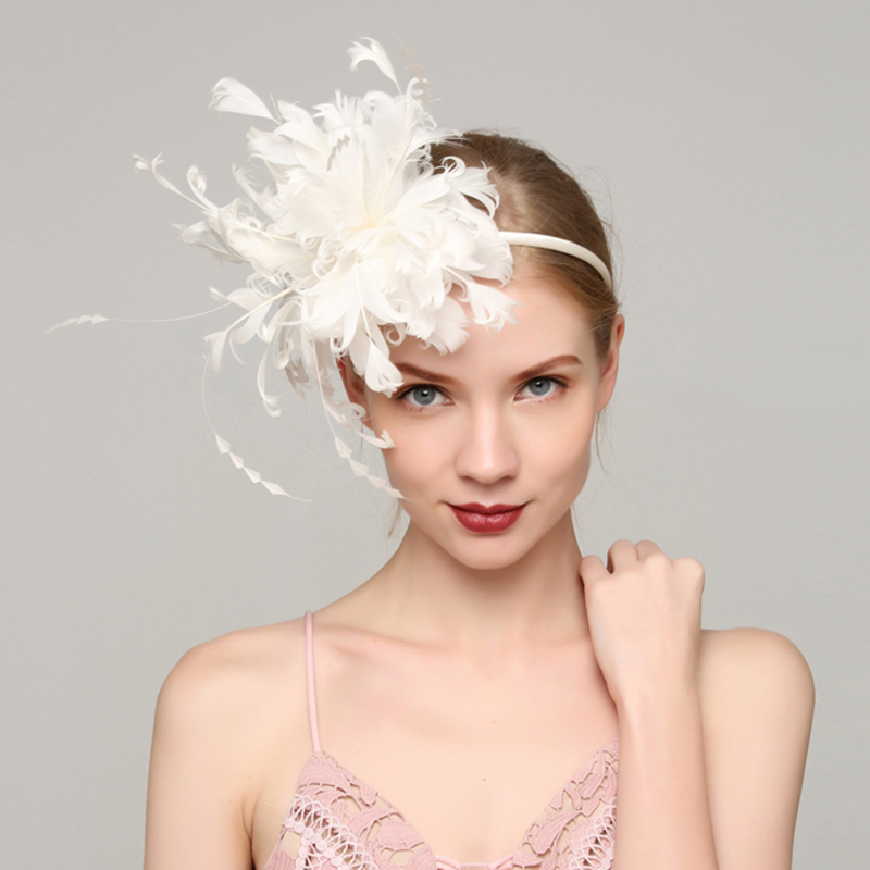 Dames Speciaal Feather met Feather Fascinators/Kentucky Derby Hats/Theepartij hoeden