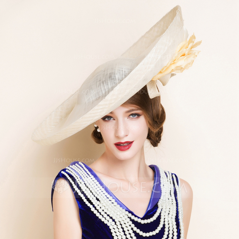 Charming Summer Cambric With Bowler/Cloche Hat