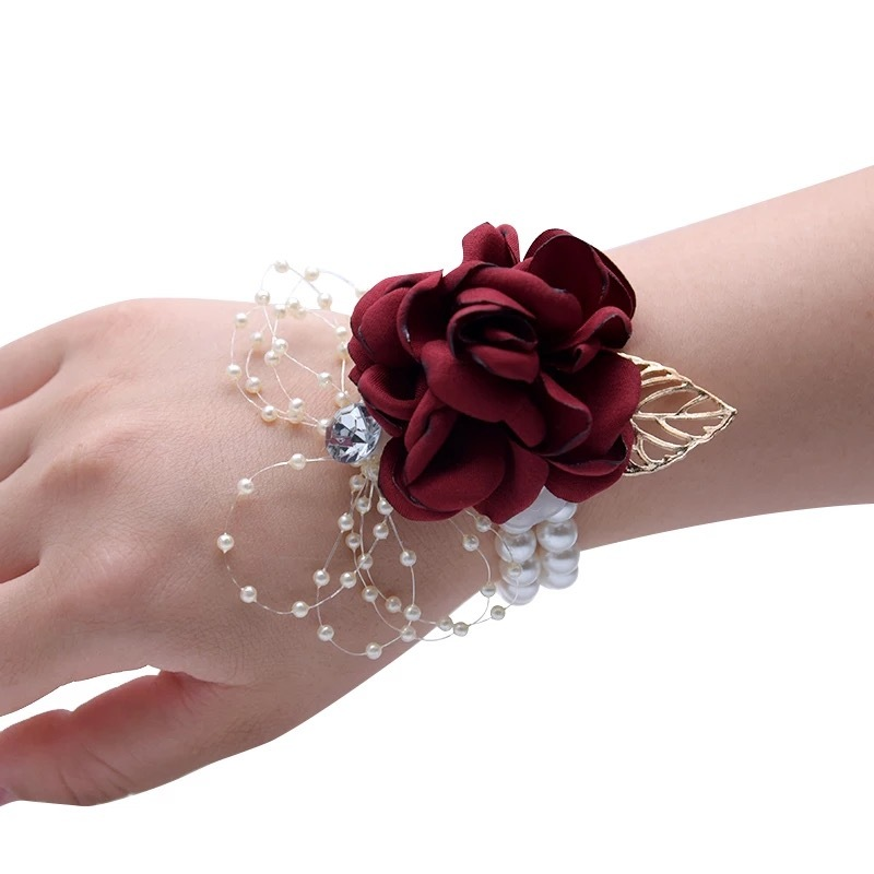 Artificial Flower Wrist Corsage (Sold in a single piece) -