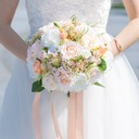 Charming Free-Form Satin/Fabric Bridal Bouquets (Sold in a single piece) -