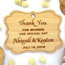 "Personalized ""Thank You"" Wooden Tags (Set of 10)"
