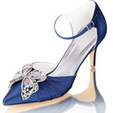Women's Lace Stiletto Heel Pumps With Bowknot