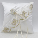 Grace/Simple Cloth Ring Pillow With Ribbons/Petals