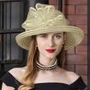 Ladies' Exquisite Cambric With Rhinestone Floppy Hats/Kentucky Derby Hats/Tea Party Hats (196216684)