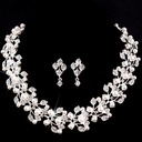 Shining Alloy/Imitation Pearls With Austrian Crystal Ladies' Jewelry Sets