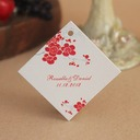 Personalized Flower Design Hard Card Paper Tags (Set of 30)