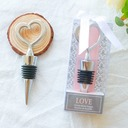 Silver/Gold Heart Bottle Stopper Love Wedding Gifts(Sold in a single piece)