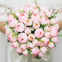 Pretty Round Artificial Silk Bridesmaid Bouquets